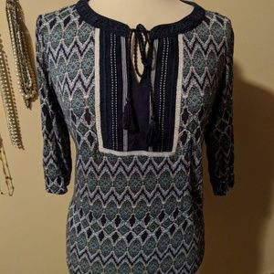 Tops - Boho tie front top size large